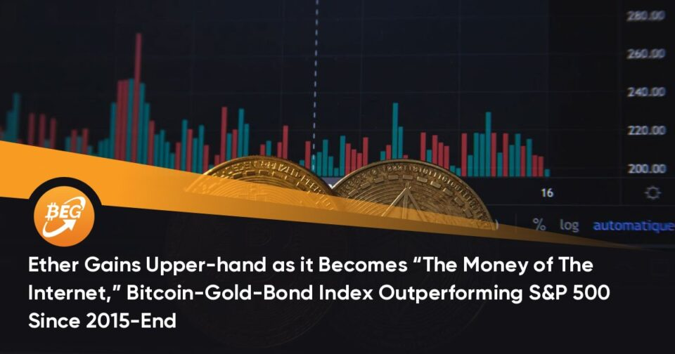 """Ether Gains Upper-hand because it Turns into """"The Cash of The Internet,"""" Bitcoin-Gold-Bond Index Outperforming S&P 500 Since 2015-Pause"""