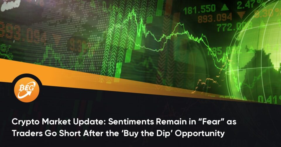 """Crypto Market Change: Sentiments Remain in """"Anguish"""" as Traders Hotfoot Instant After the 'Comprise the Dip' Opportunity"""