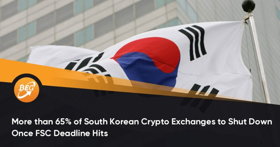 Better than 65% of South Korean Crypto Exchanges to Shut Down As soon as FSC Gash again-off date Hits