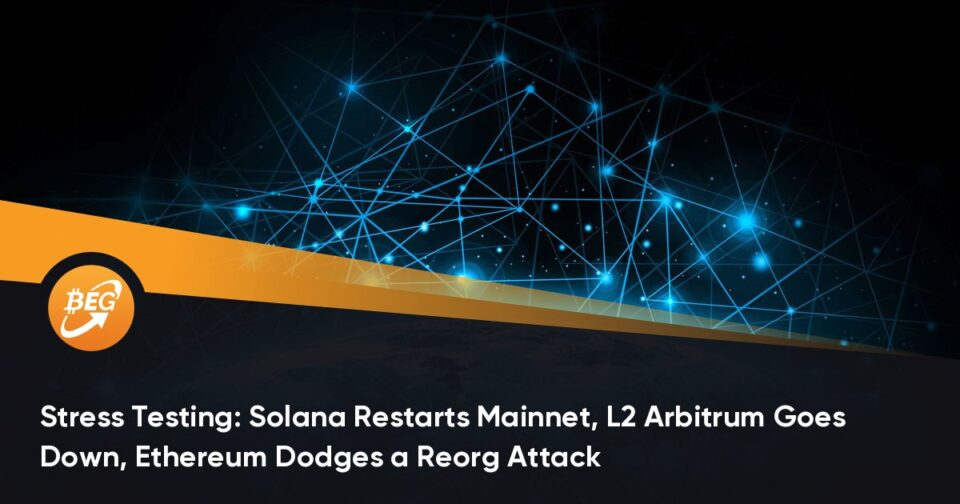 Stress Checking out: Solana Restarts Mainnet, L2 Arbitrum Goes Down, Ethereum Dodges a Reorg Assault