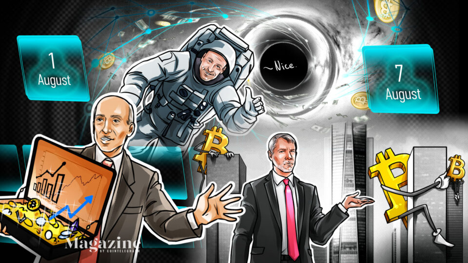 An Ethereum blockchain give a seize to, crypto regulatory battles, and Bitcoin price dialogue: Hodler's Digest, Aug. 1-7