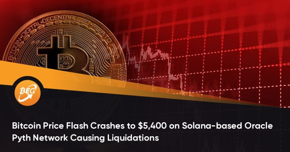 Bitcoin Mark Flash Crashes to $5,400 on Solana-primarily based Oracle Pyth Network Causing Liquidations