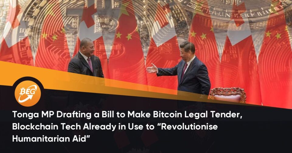 """Tonga MP Drafting a Invoice to Compose Bitcoin Suitable Soft, Blockchain Tech Already in Use to """"Revolutionise Humanitarian Lend a hand"""""""